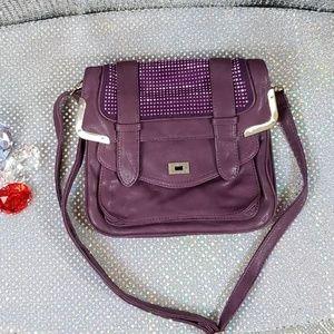 Purple+Gold Rhinestone Sparkle Purse Valentine's